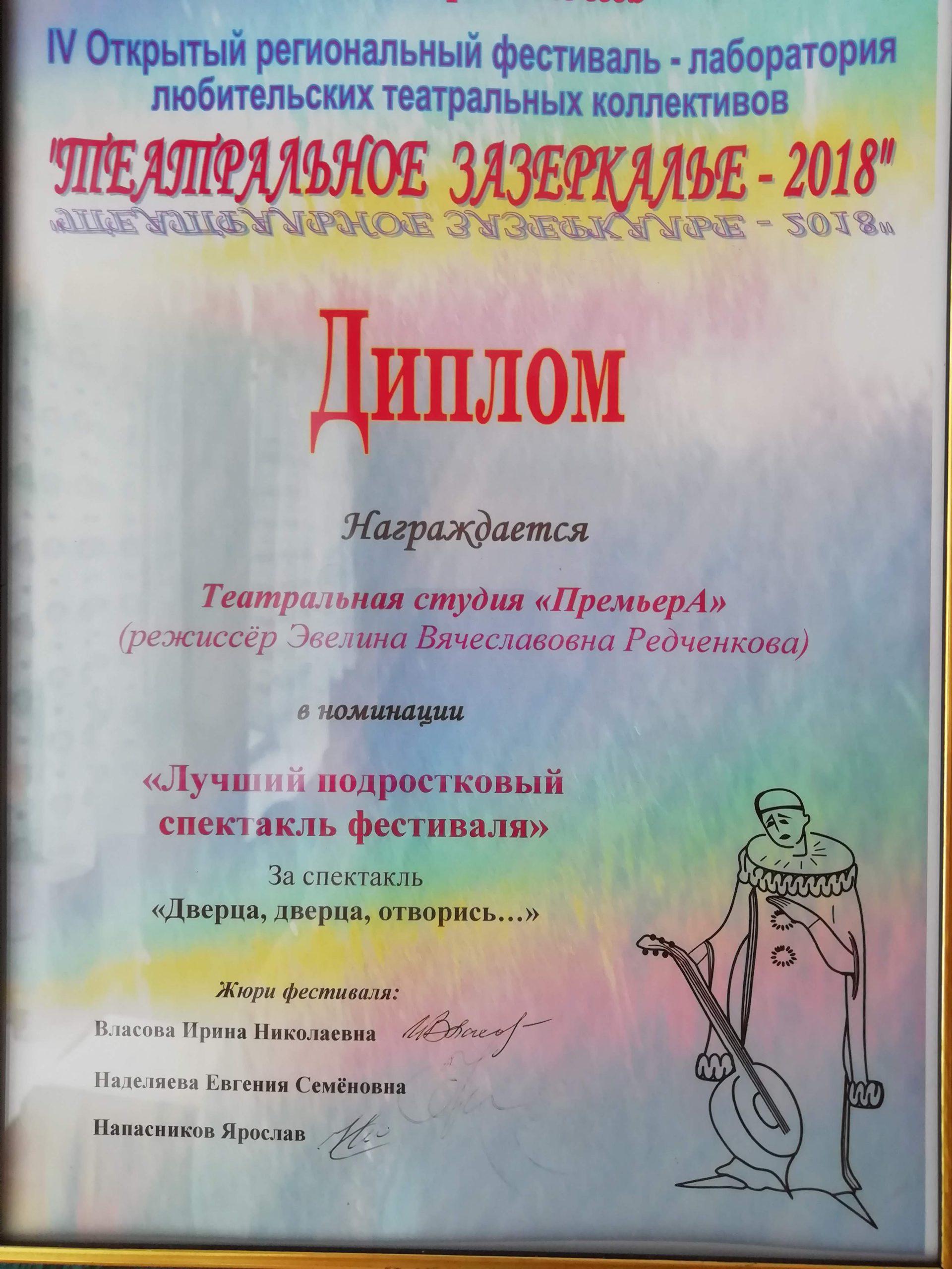 Театральное Зазеркалье 2018